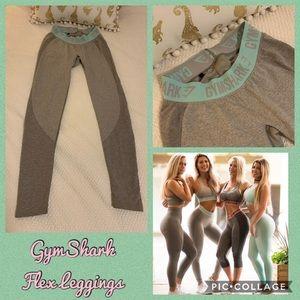 GymShark Light Grey Pale Turquoise Flex Leggings S